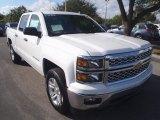 2014 Summit White Chevrolet Silverado 1500 LT Crew Cab #90125495