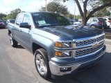 2014 Blue Granite Metallic Chevrolet Silverado 1500 LT Crew Cab #90125491
