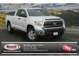 2014 Super White Toyota Tundra SR5 Double Cab 4x4 #90124677