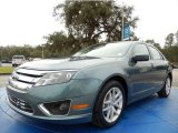 2011 Steel Blue Metallic Ford Fusion SEL V6 #90185556