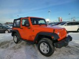 2012 Crush Orange Jeep Wrangler Sport 4x4 #90185904