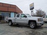 2014 Silver Ice Metallic Chevrolet Silverado 1500 LT Double Cab 4x4 #90185398