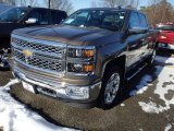 2014 Brownstone Metallic Chevrolet Silverado 1500 LTZ Double Cab 4x4 #90185285