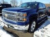 2014 Blue Topaz Metallic Chevrolet Silverado 1500 LTZ Crew Cab 4x4 #90185278