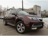 2011 Dark Cherry Pearl Acura MDX Technology #90239801