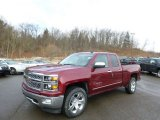 2014 Deep Ruby Metallic Chevrolet Silverado 1500 LTZ Double Cab 4x4 #90277140