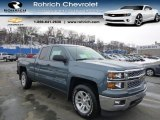 2014 Blue Granite Metallic Chevrolet Silverado 1500 LT Double Cab 4x4 #90298024