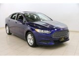 2013 Deep Impact Blue Metallic Ford Fusion SE #90335290