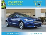 2013 Deep Impact Blue Metallic Ford Fusion SE #90335262