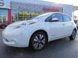 2013 Glacier White Nissan LEAF SL #90335195