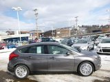 2014 Sterling Gray Ford Focus Titanium Hatchback #90369542