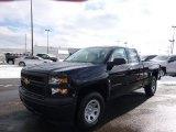 2014 Black Chevrolet Silverado 1500 WT Double Cab 4x4 #90369607