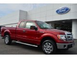 2014 Ruby Red Ford F150 XLT SuperCab #90408671