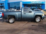 2008 Blue Granite Metallic Chevrolet Silverado 1500 Work Truck Regular Cab #90408494