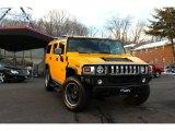 2003 Yellow Hummer H2 SUV #90444761