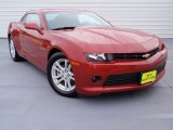 2014 Crystal Red Tintcoat Chevrolet Camaro LS Coupe #90494173