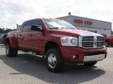 2008 Inferno Red Crystal Pearl Dodge Ram 3500 Laramie Mega Cab 4x4 Dually #9024787