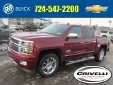 2014 Deep Ruby Metallic Chevrolet Silverado 1500 High Country Crew Cab 4x4 #90527588