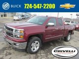 2014 Deep Ruby Metallic Chevrolet Silverado 1500 LTZ Z71 Double Cab 4x4 #90527585