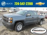 2014 Blue Granite Metallic Chevrolet Silverado 1500 WT Double Cab 4x4 #90527583