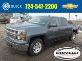 2014 Blue Granite Metallic Chevrolet Silverado 1500 LT Crew Cab 4x4 #90527580