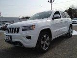 2014 Bright White Jeep Grand Cherokee Overland 4x4 #90527262