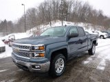 2014 Blue Granite Metallic Chevrolet Silverado 1500 LT Double Cab 4x4 #90561545