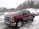2014 Deep Ruby Metallic Chevrolet Silverado 1500 LT Z71 Double Cab 4x4 #90561542