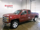 2014 Deep Ruby Metallic Chevrolet Silverado 1500 LT Z71 Double Cab 4x4 #90561750