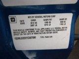2000 Oldsmobile Alero GL Sedan Info Tag