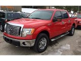 2010 Vermillion Red Ford F150 XLT SuperCrew 4x4 #90594667