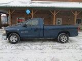 2002 Patriot Blue Pearlcoat Dodge Ram 1500 ST Regular Cab #90621981