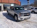 2014 Silver Ice Metallic Chevrolet Silverado 1500 LT Z71 Double Cab 4x4 #90645195