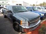 2012 Blue Granite Metallic Chevrolet Silverado 1500 LS Extended Cab #90677941