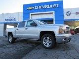 2014 Silver Ice Metallic Chevrolet Silverado 1500 LT Crew Cab #90677931