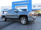 2014 Blue Granite Metallic Chevrolet Silverado 1500 LTZ Crew Cab 4x4 #90677928