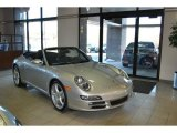 2007 Arctic Silver Metallic Porsche 911 Carrera Cabriolet #90677989