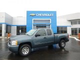 2011 Blue Granite Metallic Chevrolet Silverado 1500 LS Extended Cab 4x4 #90745689