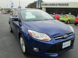 2012 Sonic Blue Metallic Ford Focus SEL Sedan #90745586