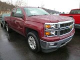 2014 Deep Ruby Metallic Chevrolet Silverado 1500 LT Z71 Double Cab 4x4 #90790617