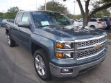 2014 Blue Granite Metallic Chevrolet Silverado 1500 LT Double Cab #90790689