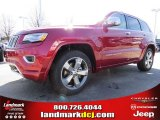 2014 Deep Cherry Red Crystal Pearl Jeep Grand Cherokee Overland 4x4 #90790258