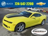 2014 Bright Yellow Chevrolet Camaro LT/RS Coupe #90790502