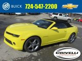 2014 Bright Yellow Chevrolet Camaro LT/RS Convertible #90790501