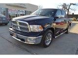 2012 True Blue Pearl Dodge Ram 1500 Laramie Crew Cab 4x4 #90828147