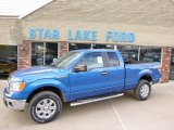 2014 Blue Flame Ford F150 XLT SuperCab 4x4 #90852452