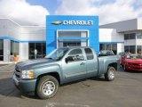2009 Blue Granite Metallic Chevrolet Silverado 1500 LT Extended Cab 4x4 #90852261