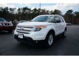 2013 Oxford White Ford Explorer XLT EcoBoost #90882154