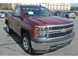 2014 Deep Ruby Metallic Chevrolet Silverado 1500 WT Regular Cab #90882191