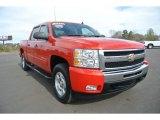 2009 Victory Red Chevrolet Silverado 1500 LT Crew Cab 4x4 #90882183